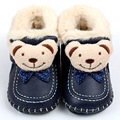 Winter Baby Boots Warm Leather Snow Boots Soft Rabbit Fur Boys Baby Moccasins Animal Infant Shoes Kids First Walkers