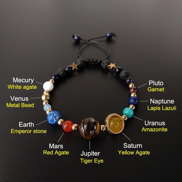 BOEYCJR 9 Planets Pluto Universe Bangles & Bracelets Fashion Jewelry 1
