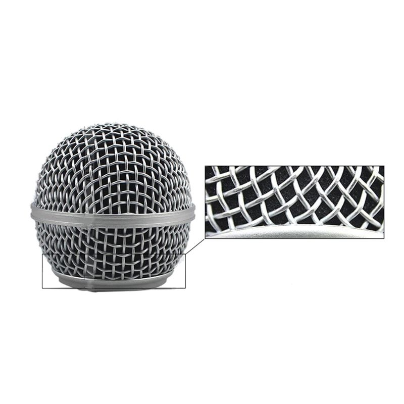 Black Round Ball Shape Microphone Cap Windscreen Grill Inner Foams Sponge For SM58 SLX24 PGX24 PG58 BETA58A Mic Cover