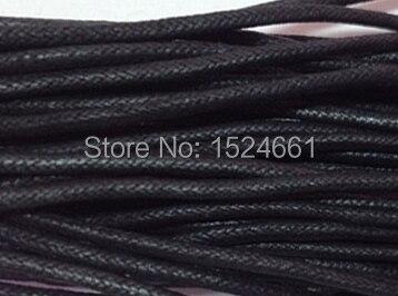 80 M Al Por Mayor Negro Collar de Cordón de Algodón Encerado 1mm * hilo de coser