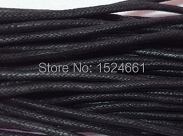 80M Wholesale Black Waxed Cotton Necklace Cord 1mm * sewing thread wire nylon cord jewelry making nylon thread