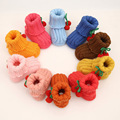 Booties Baby Crochet Boy Shoes Newborn Soft Cotton Fabric Infantil Menina Bimba Baby Booties Knitting First Walkers Shoes
