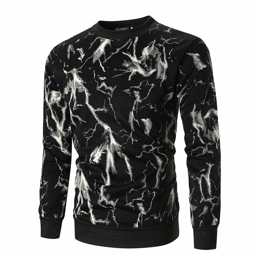 Feitong ชายฤดูใบไม้ร่วงเสื้อแขนยาวพิมพ์ Pullover Sweatshirt ชายขนาด Outwear moletom masculino harajuku streetwear