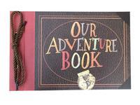 3 D Raised Our Adventure Book Embossed Scrapbook Album, 11.6 x 7.5 inch, 29.5cm x 19.5cm, Light Brown Pages