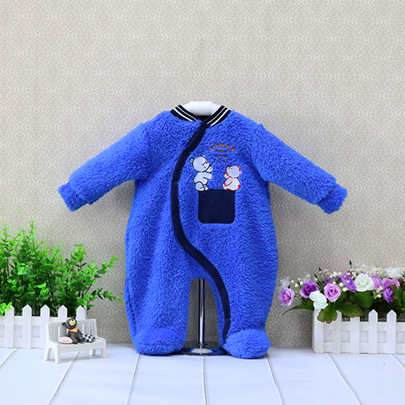 Baby Coral Fleece Button Rompers Boys Autumn and Winter Clothes Long Sleeve Overalls Girls Clothing Newborn Suits unisex baby boys girls clothes long sleeve polka dot print winter baby rompers newborn baby clothing jumpsuits rompers 0 24m