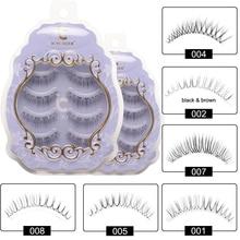 Icycheer japonês estilo natural cílios postiços maquiagem ultra leve ar cílios extensão artesanal macio superior e inferior cílios
