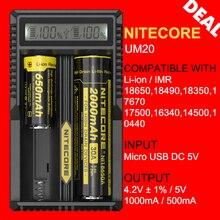 D'origine Nitecore UM20 USB Intellicharger Numérique Batterie Au Lithium Chargeur avec Écran LCD pour 17500 18650 16340 14500 Batterie
