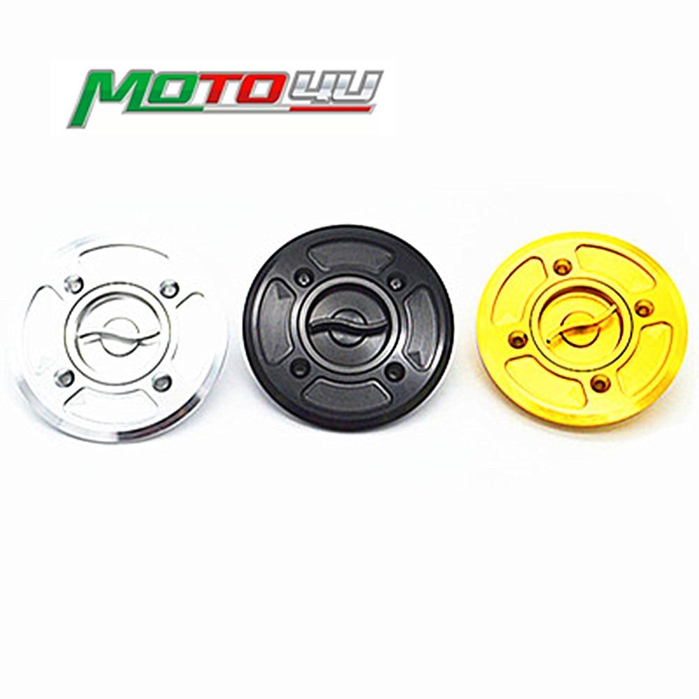 MOTO4U Motorcycle Fast Fuel Gas Cap Tank Cap Cover CNC Billet For DUCATI Scrambler 3 colors