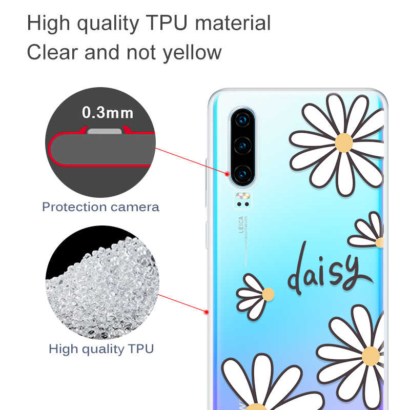 Animals Painted TPU Case For Huawei P20 Pro P30 Mate 10 Lite Mate 20 Pro Cute Pattern Clear Cover For Honor 10 Lite 8X 10i 20i