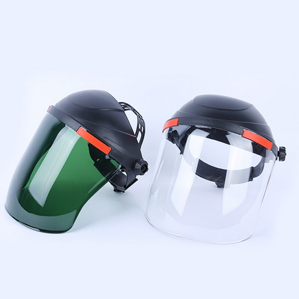 Electric Welding Helmet Adjustable Face Shield Welding Glasses Anti-splash Impact Heat Protective Mask Outdoor Safety Work Heads