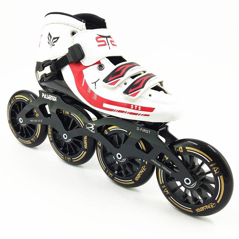 Vitesse patins à roulettes professionnels 110mm 110mm 4 roues patins hommes/femmes skate adultes enfants patins de patinage de vitesse