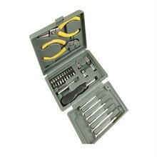 24 шт. домашний мультиинструментальный ящик, аппаратные двойные плоскогубцы, набор инструментов, набор пластиковых комбинированных инструментов