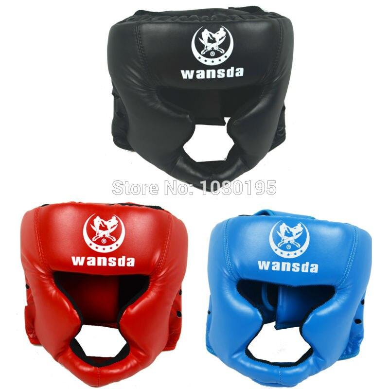 Prix pour De boxe casque Fermé type de boxe tête garde Sparring MMA Muay Thai coup brace protection de la Tête HA28101110