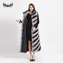 BFFUR Women Genuine Rabbit Fur Jackets And Vest Real Rabbit Coats Women Thick Warm Winter Women Rex Rabbit Vest 1623