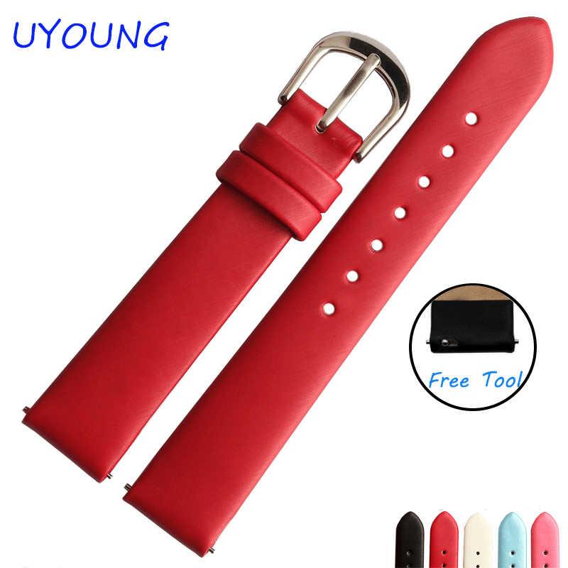 12mm14mm16mm18mm20mm גבוהה באיכות הסתחרר משי החלפת רצועת עור רצועת לשעון נשים אבזרים