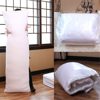 White 150 x 50CM Hugging Long Pillow Inner Body Cushion Pad Anime Rectangle Sleep Nap Pillow Home Bedroom Bedding Accessories