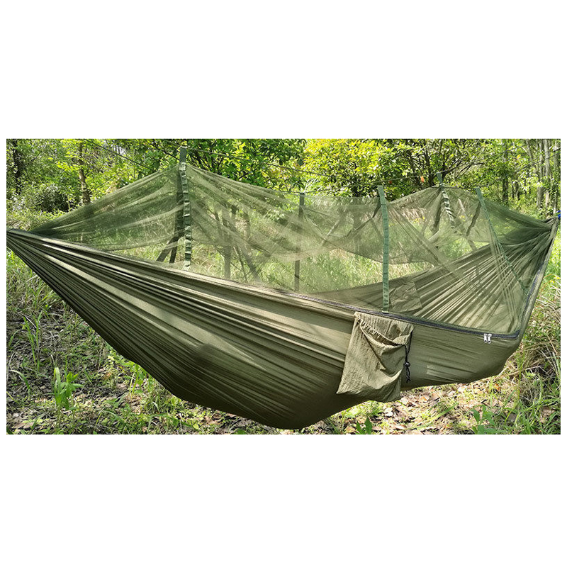 Double Person Travel Outdoor Camping Tent Hanging Hammock Bed & Mosquito Net Green ...
