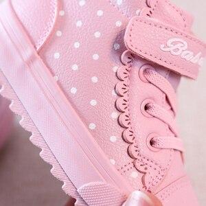 Image 5 - Kids Winter Shoes For Girl Children boots Boys Warm 2019 New baby Shoes Plus Velvet Toddler Winter Boots Girl botas pink sneaker