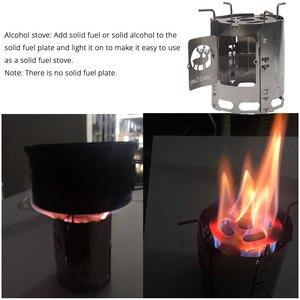 Image 2 - Titanium Alloy Folding Wood Stove Multifuel BBQ Camping Outdoor Burners Portable Alcohol Lantern Picnic Firewood