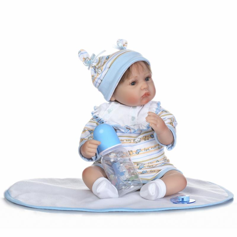 NPKCOLLECTION 17 Inch Handmade Reborn Baby Girl Doll Realistic Looking Cute Lovely Baby Doll New Born Toy For Kids beiens furniture doll 19 pcs children kids baby girl s cute lovely toy fashion makeup chair make up table set dresser