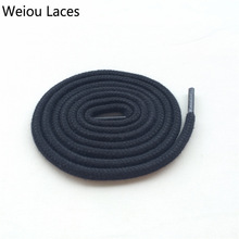 Weiou الأزياء أسود أبيض جولة القطن أربطة الحذاء اللباس الأربطة الأحذية ل أحذية رياضية AJ11 كرة السلة 114 سنتيمتر / 45 ''