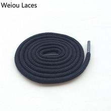 Weiou modna črno bela okrogla bombažna vezalka za vezalke za superge AJ11 košarkaške vezalke 114cm / 45 ''