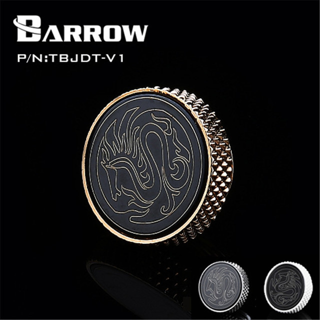 Barrow G1/4'' Mirror Finish Stop Plug Fitting Water Cooling Black,Silver,White,Gold Horse Limited Edition TBJDT-V1