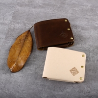 Totally Hand Made Original Vintage Genuine Leather Men Wallets Small Short Designer Male Purse Billfold Wholesales