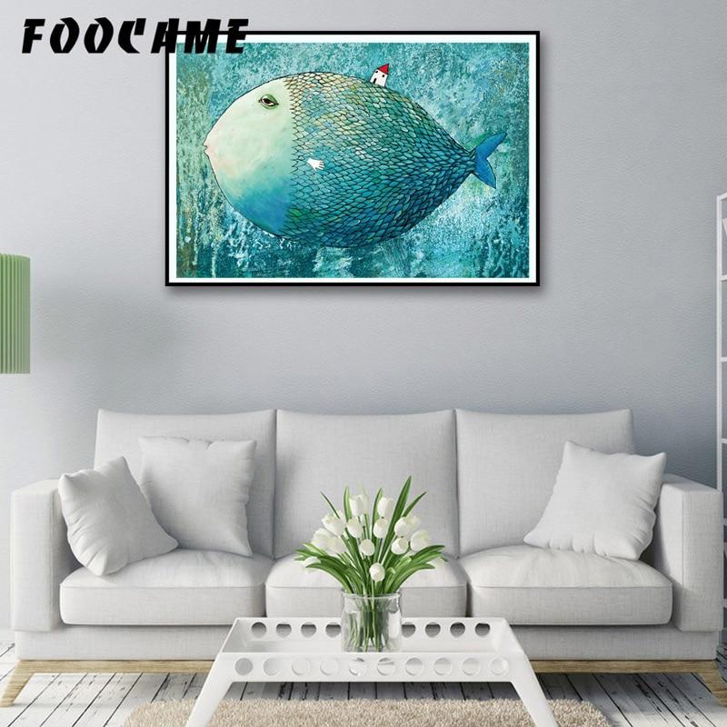 FOOCAME Big Fish Кішкентай Үйі Аннотациялар - Үйдің декоры - фото 4