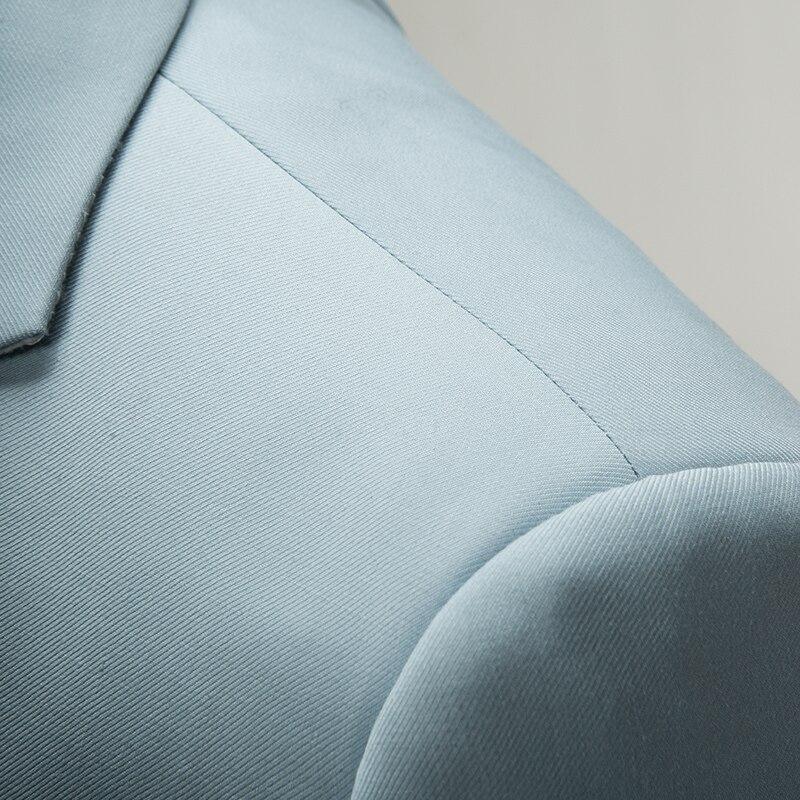 Fashion Men Three-piece Set Asian size S - 6XL Men Suit Jacket and Vest and Pant Slim Fit mens Blazer