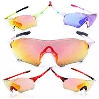 TR90 Cycling Sunglasses Bicycle Sport Glasses Polarized UV400 Unixex Ski Goggles Bicycle Eyewear Ciclismo 3 Lens