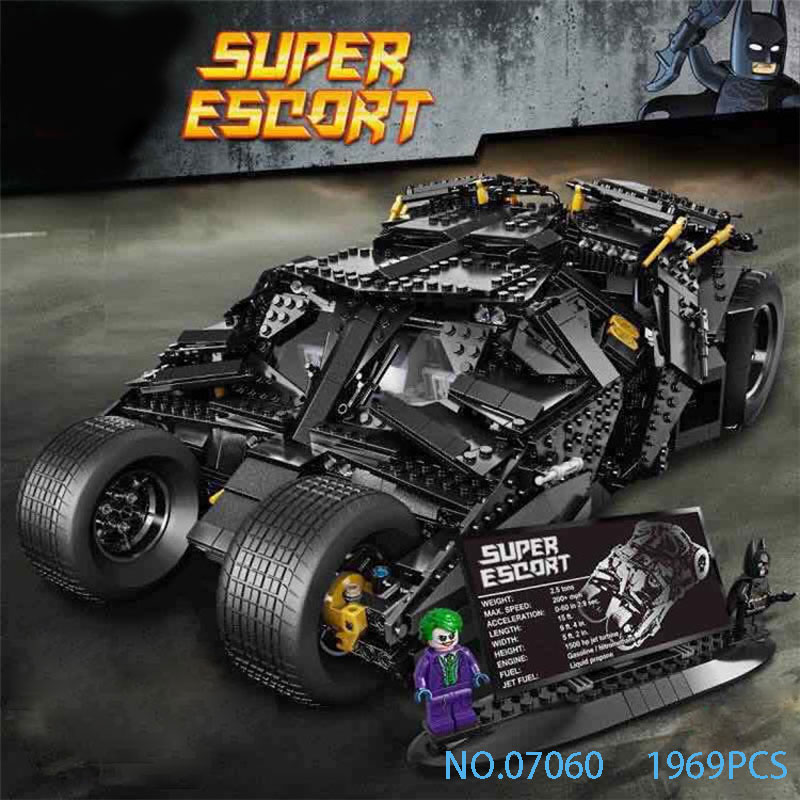 1969Pcs Super Heroes Batman Chariot The Tumbler Batmobile Batwing Building Blocks Bricks Education Toys with 7111 friend for boy decool 7105 dc super heroes batman the tumbler building block brick tank toys for children boy game gift compatible lepin bela