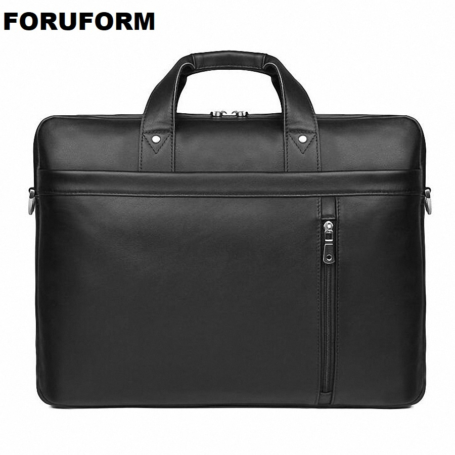 New Natural Cowskin 100% Genuine Leather Mens Briefcase Fashion Large Capacity Business bag Black Male Shoulder 17 Laptop BagNew Natural Cowskin 100% Genuine Leather Mens Briefcase Fashion Large Capacity Business bag Black Male Shoulder 17 Laptop Bag