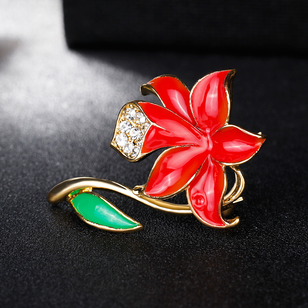 Danbihuabi Fashion Prefect Banquet Badges Red Poppy Flower Pin