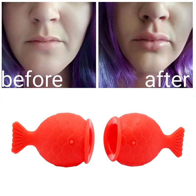 VIBRANT GLAMOUR Women Sexy Full Lips Plumper Enhancer Lip Care Silicone Fish Shape Lip Plump Natural Pout Mouth Beauty Tool