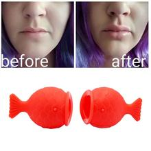VIBRANT GLAMOUR Women Sexy Full Lips Plumper Enhancer Lip Care Silicone Fish Shape Lip Plump Natural Pout Mouth Beauty Tool size l beauty lips enhancer plump pout fuller suction device