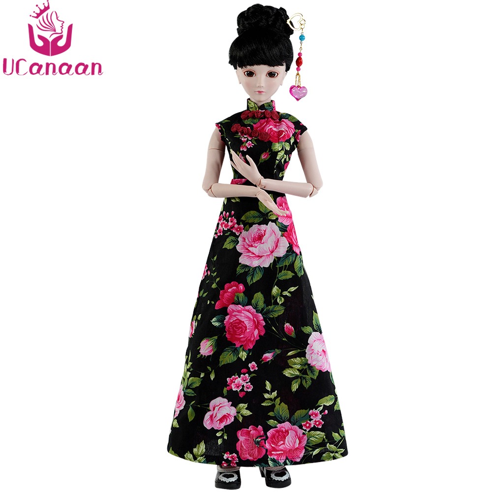 Ucanaan 1/3 BJD Doll Full Set 24 Jointed Dolls With All Outfits DIY Toys for Girls Best Birthday Gift Collection nk 3 pcs set original fr doll head for fr dolls 2002 limited edition collection curly hair best diy gift for girls doll