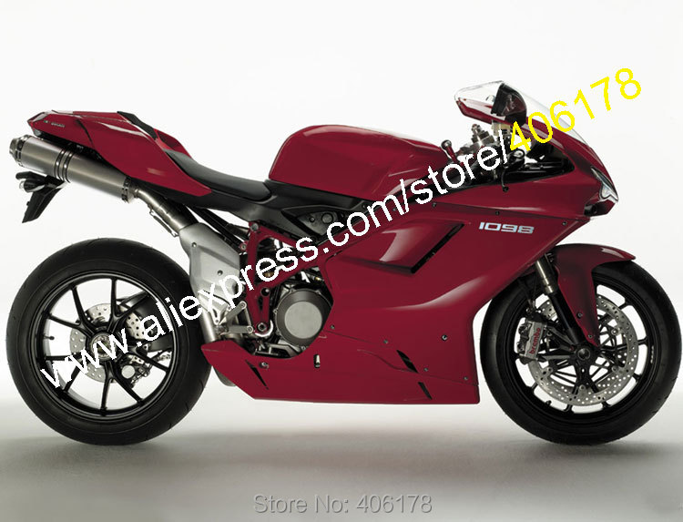 Hot Sales,Motorcycle Fairings For Ducati 848 1098 1198 Drak Red 2007 2008 2009 2010 2011 Sports Fairing set (Injection molding) hot sales 08 09 10 11 for honda cbr1000rr fireblade 2008 2011 red
