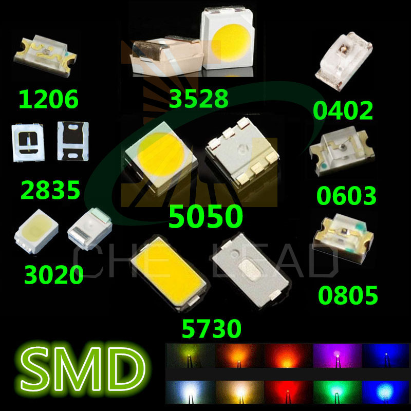 Diodes Trustful 2835 Ice Blue Red Jade Green Warm White Orange Pink Purple Ultra Bright Smd Led Indication X 4000pcs