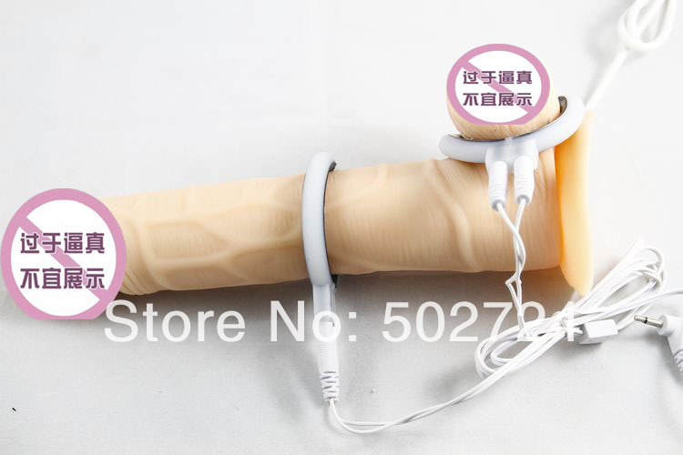 Penis Physical Therapy Ring Enlarger Excise Gadgets Penis Stimulator Electro Pulse Shock Masturbator For Men