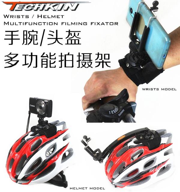 The factory production of 20881 TECHKIN helmet bike helmet camera shooting  arm camera tripod photography riding