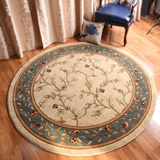 240CM Round Carpet Living Room Pastoral Big Rug Bedroom Home Decoration Dining Floor Mat Cloakroom Carpets And Rugs