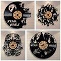 3D Wall Clock Star Wars Clock Vinyl Record Creative Hanging Clock Home Decor