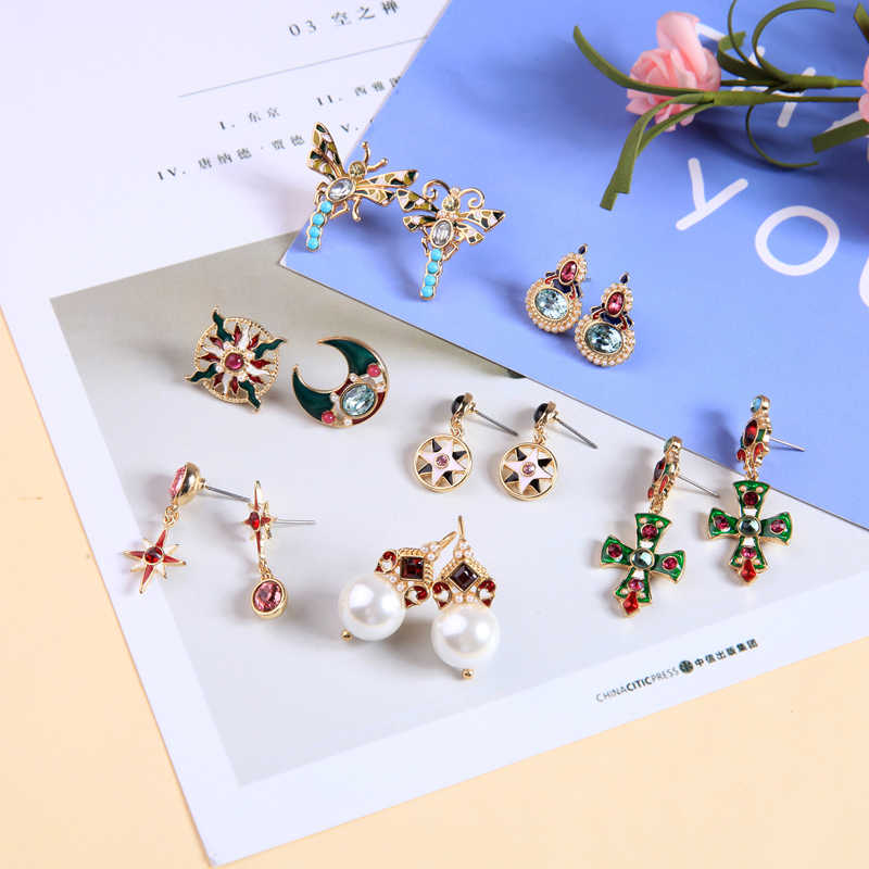 Joolim Ethnic Moon Star Stud Earring Cute Earring Wholesale