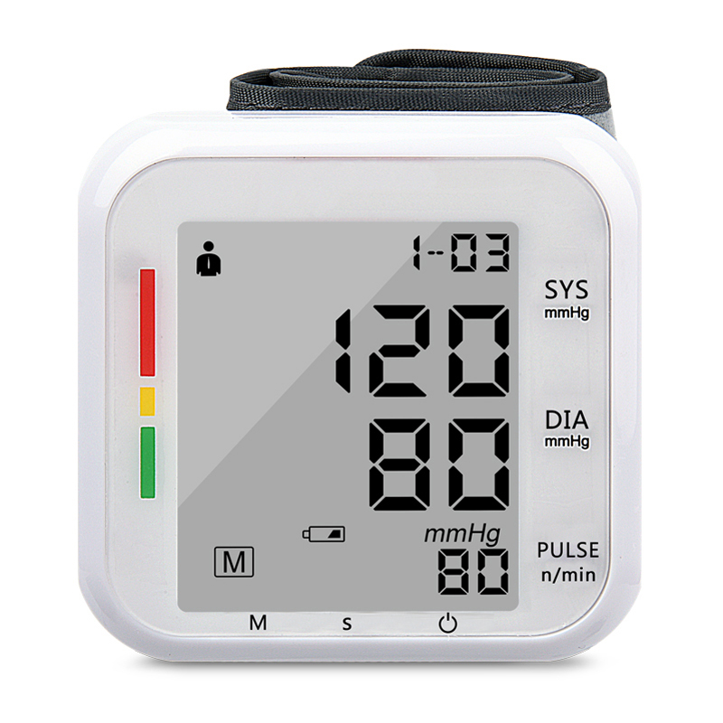 Home Health Care 1pcs Digital Lcd Upper Wrist Blood Pressure Monitor Heart Beat Meter Machine Tonometer for Measuring Automatic health care automatic digital lcd wrist blood pressure monitor for measuring heart beat and pulse rate dia sys