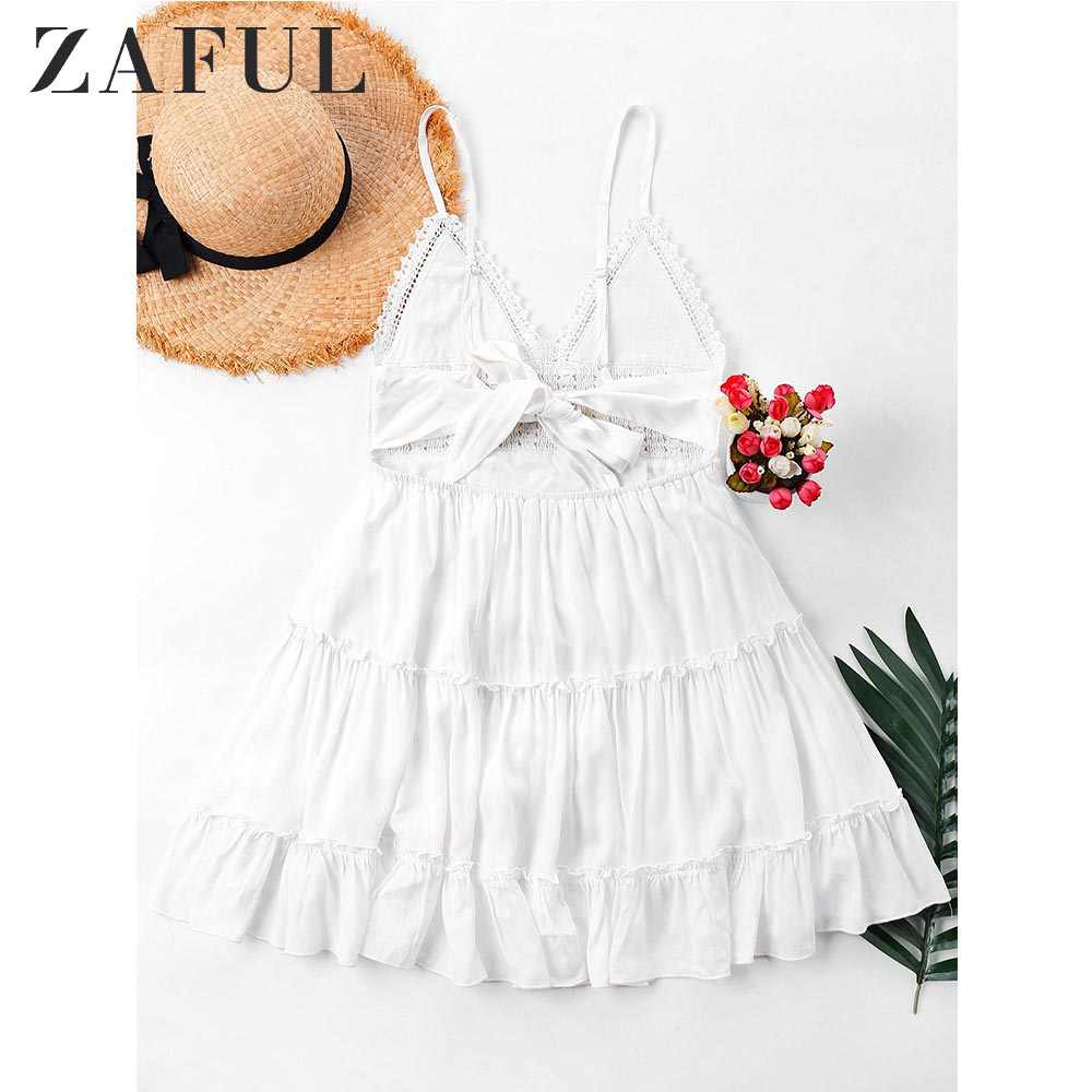 d0c0ebdc50 Detail Feedback Questions about ZAFUL Crochet Panel Cami Flare Dress ...