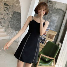 S-XXL Large Size Summer Backless Black Blouse Zipper and Short Pants Modis Internet Celebrity Style Two Piece Set Women Suit