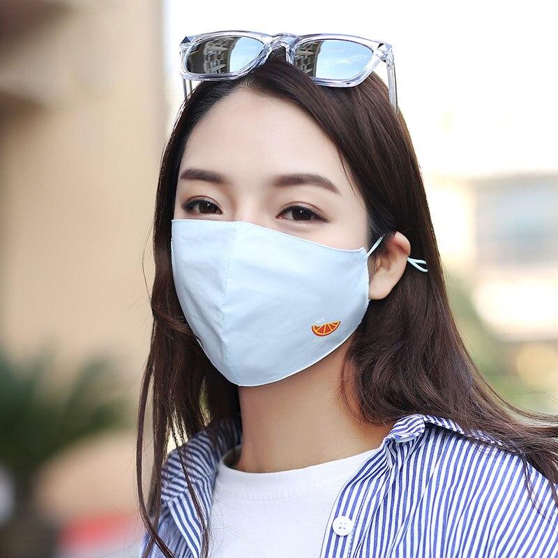 Wassermelone Maske Mund Abdeckung Komfort Radfahren Anti-staub Baumwolle Mehrweg Gesichts Schutzhülle Masken Großhandel M015 Masken