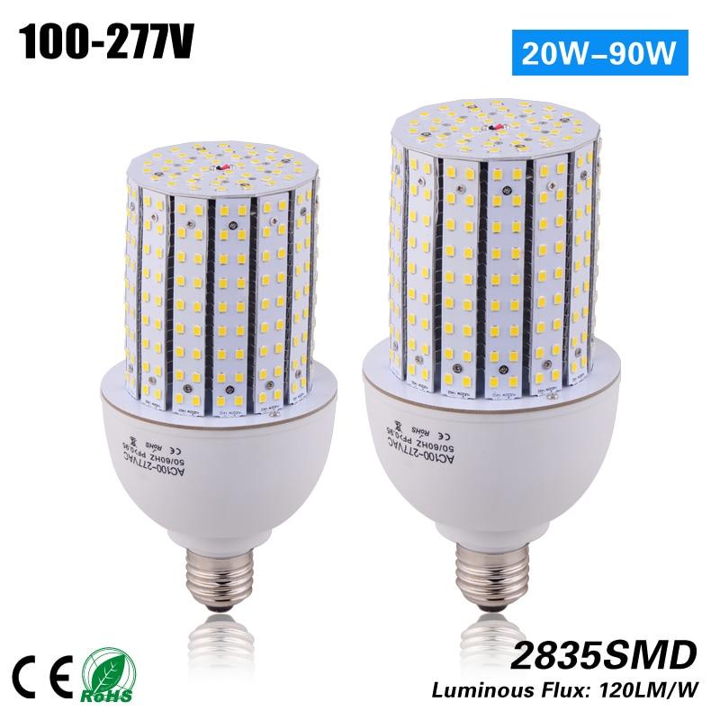 Free shipping 14side e27 e40 20w led Corn light for 75W MH/HPS replacement CE ROHS ETL 100-277vac e40 100w led corn light with fan free shipping