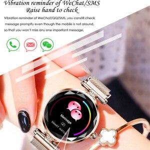 Image 2 - Greentiger ליידי אופנה H1 חכם שעון נשים Bluetooth Waterproof קצב לב צג גשש כושר Smartwatch צמיד